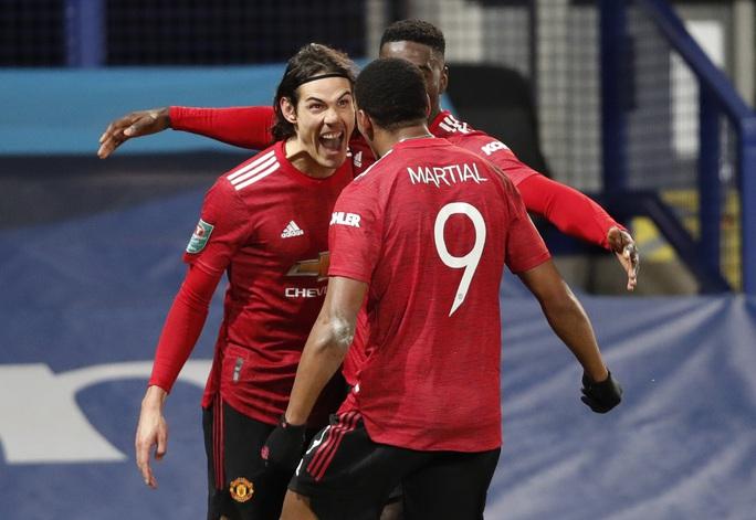Cavani lập siêu phẩm loại Everton, Man United chờ chạm trán Man City ở bán kết - Ảnh 4.