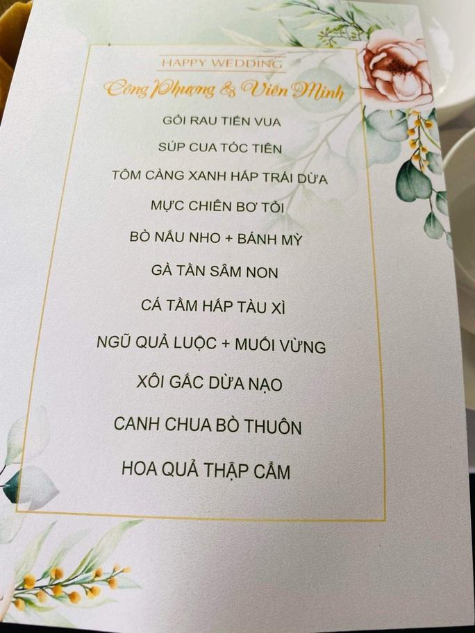 Đám cưới Công Phượng: Thực đơn 11 món, đông đảo bạn bè đến chia vui - Ảnh 3.
