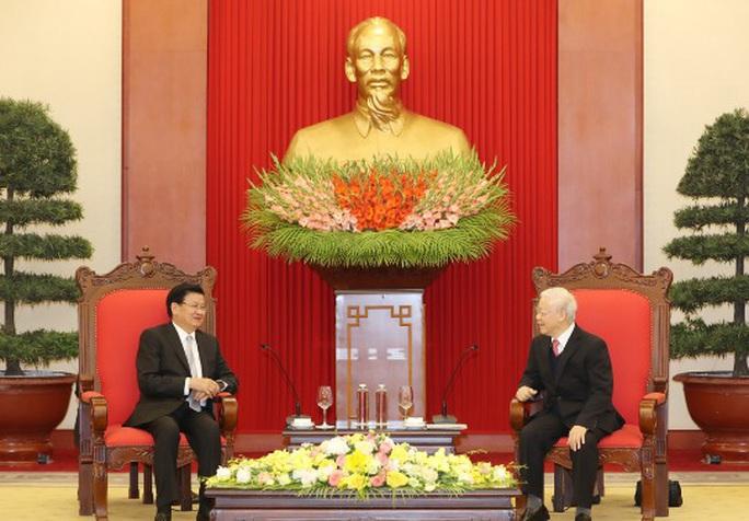 Tổng Bí thư, Chủ tịch nước tiếp Thủ tướng Lào - Ảnh 1.
