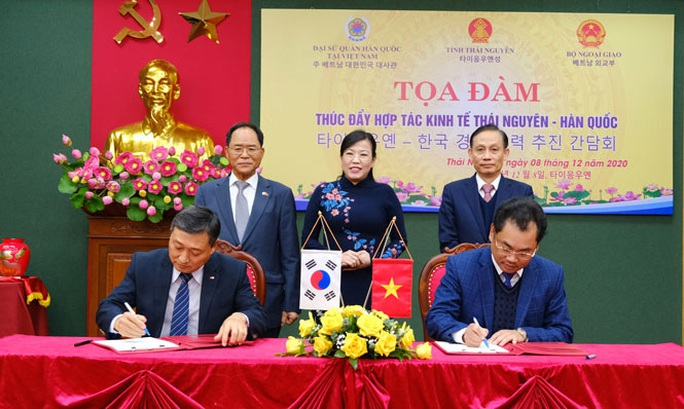 Thái Nguyên ký kết thúc đẩy hợp tác kinh tế với Hàn Quốc - Ảnh 1.