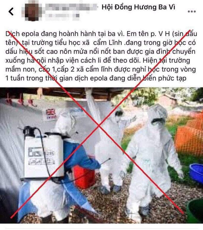 Trong dịch nCoV, tung tin giả về dịch bệnh epola để gây chú ý trên mạng xã hội - Ảnh 1.