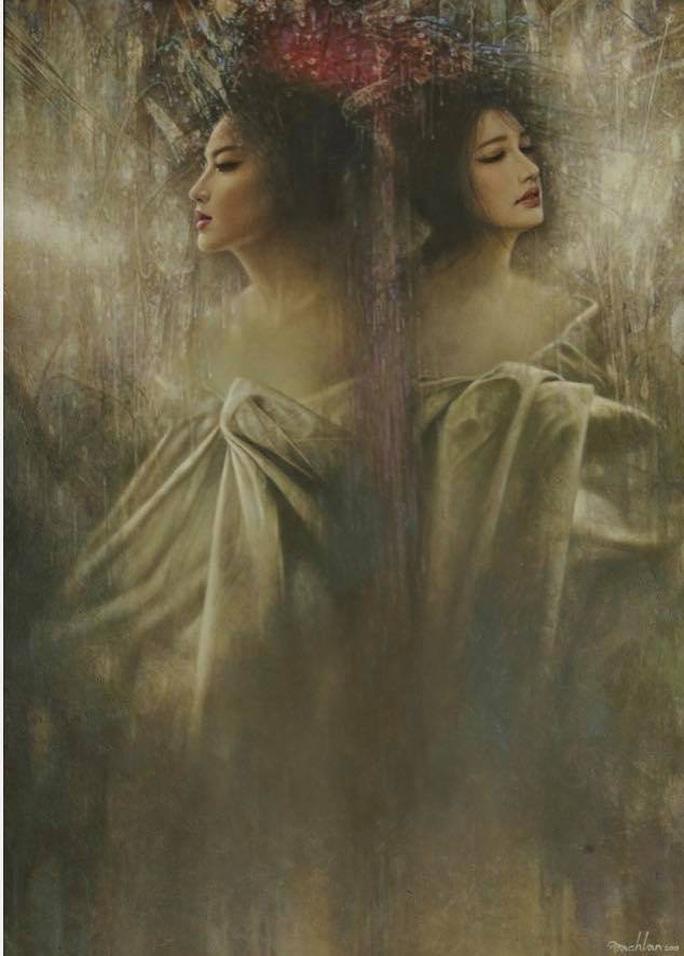 Tan chảy với tranh sơn dầu vẻ đẹp thiếu nữ của họa sĩ Bạch Lan - Ảnh 2.