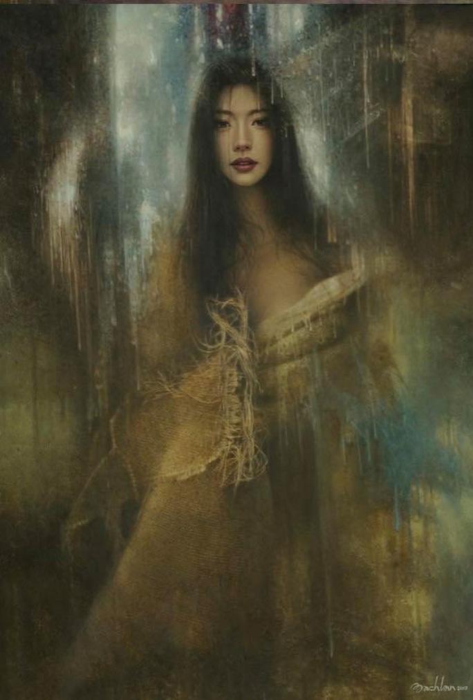 Tan chảy với tranh sơn dầu vẻ đẹp thiếu nữ của họa sĩ Bạch Lan - Ảnh 3.