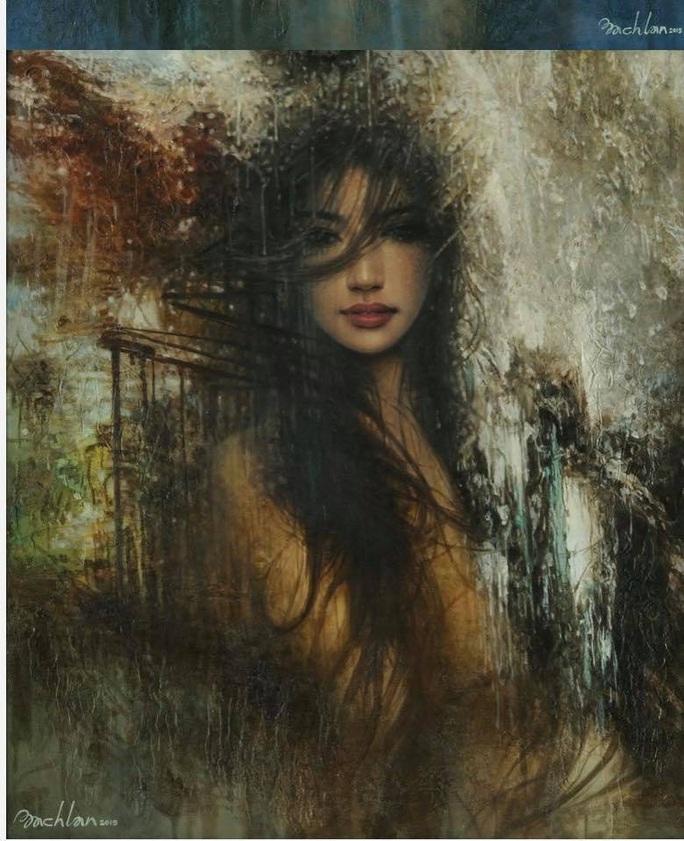 Tan chảy với tranh sơn dầu vẻ đẹp thiếu nữ của họa sĩ Bạch Lan - Ảnh 6.