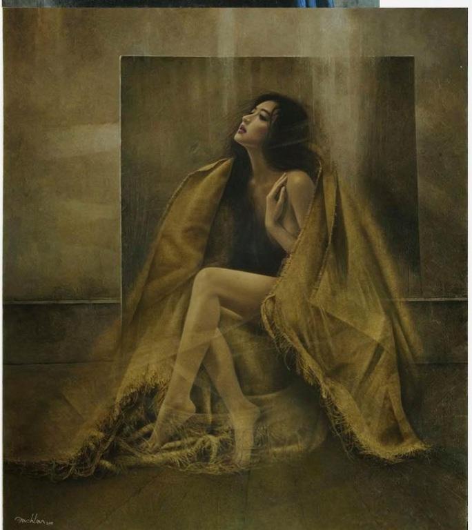 Tan chảy với tranh sơn dầu vẻ đẹp thiếu nữ của họa sĩ Bạch Lan - Ảnh 7.