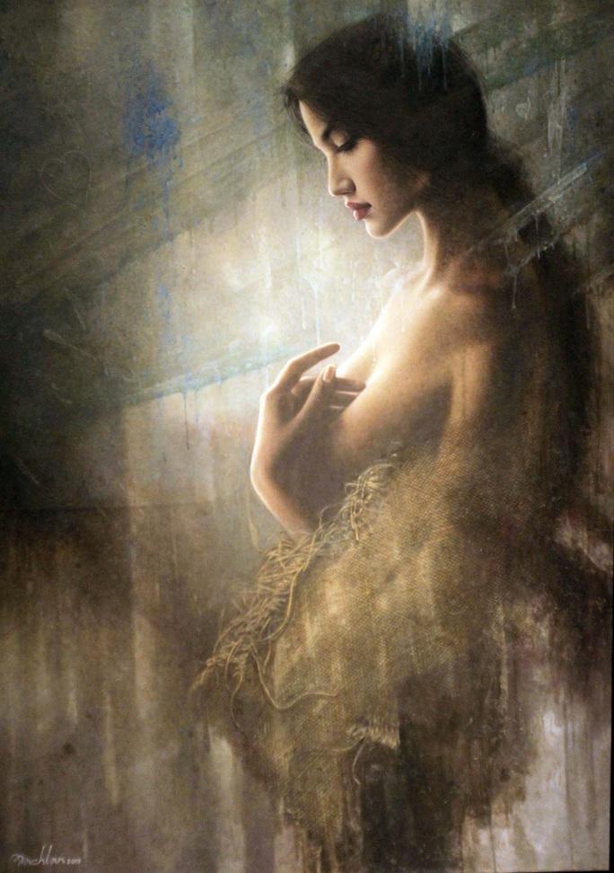 Tan chảy với tranh sơn dầu vẻ đẹp thiếu nữ của họa sĩ Bạch Lan - Ảnh 5.