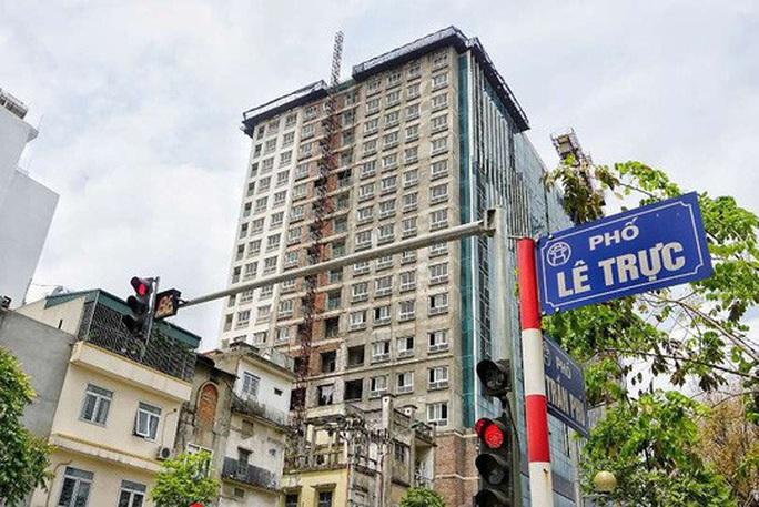 Quận Ba Đình đổ lỗi cho chủ đầu tư cản trở việc xử lý tòa nhà 8B Lê Trực - Ảnh 2.