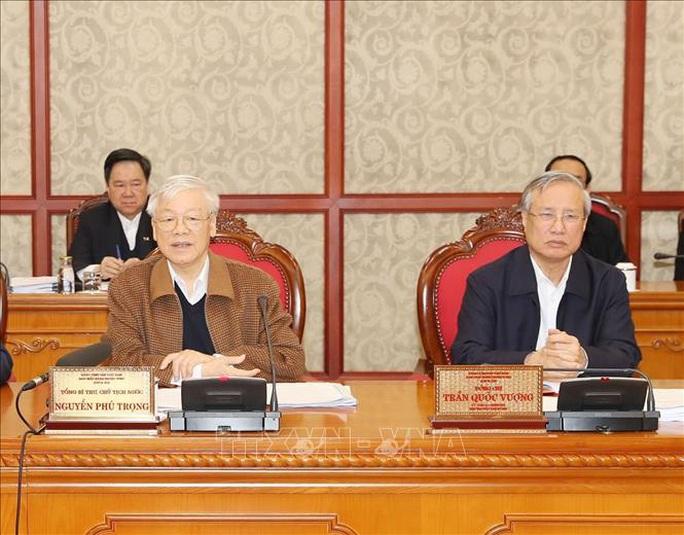 Chùm ảnh Tổng Bí thư, Chủ tịch nước chủ trì họp Bộ Chính trị - Ảnh 4.