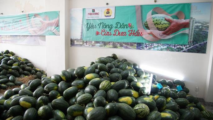 Hội doanh nhân trẻ giải cứu hơn 2.000 tấn dưa hấu, thanh long - Ảnh 1.