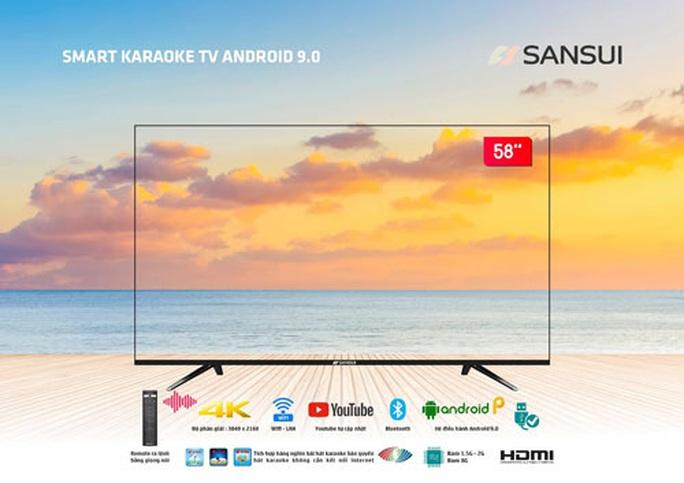 VTB hợp tác phát triển tivi tràn viền karaoke thông minh Sansui - Ảnh 1.