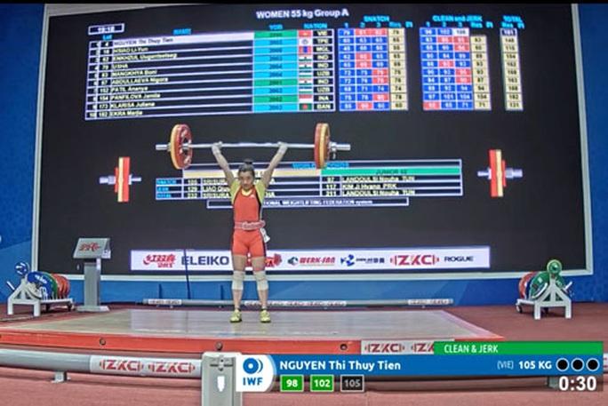 Cử tạ thắng lớn ở giải trẻ châu Á - Ảnh 1.