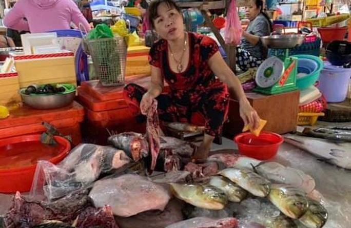 Lập biên bản xử lý tiểu thương vô tư xẻ thịt rùa xanh bán ở chợ Hà Tiên - Ảnh 1.