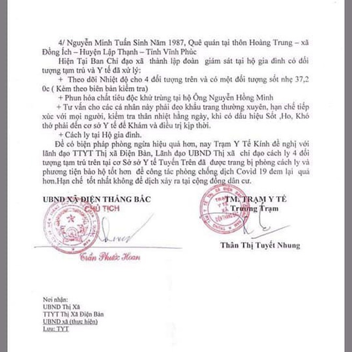Quảng Nam: Đề nghị cách ly 4 người đến từ Vĩnh Phúc  - Ảnh 3.