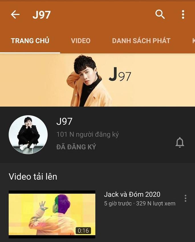 Kênh YouTube mới của Jack đạt kỷ lục tăng lượt người theo dõi - Ảnh 2.