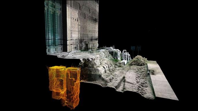 Ảnh quét laser 3D hé lộ cấu trúc mộ cổ kỳ bí bên dưới bậc tam cấp của Tòa nhà Thượng viện - ảnh Parco Closseo