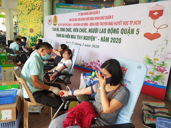 300 CNVC-LĐ tình nguyện hiến máu - Ảnh 1.
