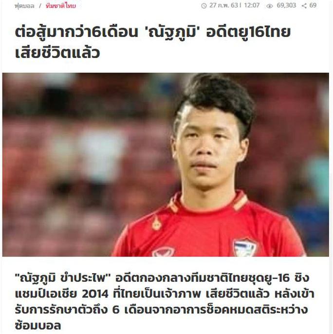 Cầu thủ trẻ Thái Lan qua đời vì đột quỵ trên sân tập - Ảnh 1.