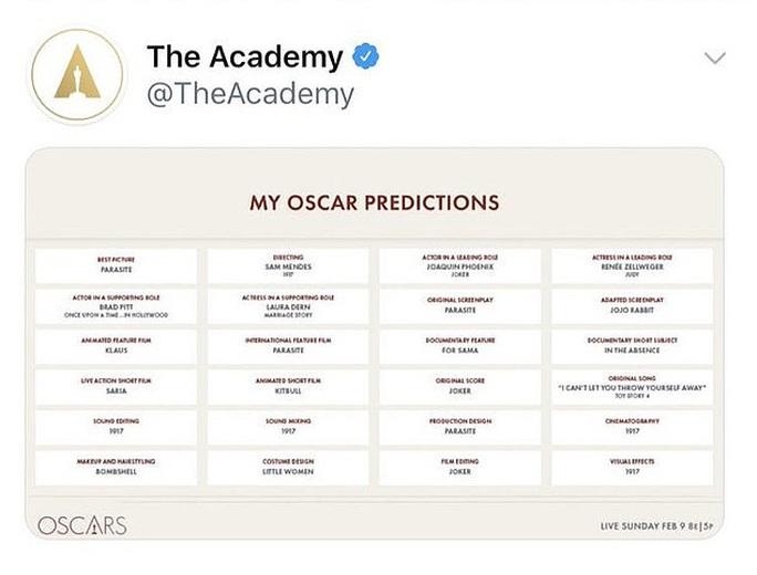 Đăng rồi xóa gấp, ban tổ chức giải Oscar bị ném đá - Ảnh 2.