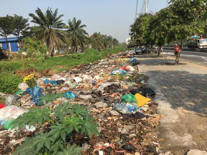 Kinh khủng bãi rác tự phát ở quận Bình Tân - TP HCM - Ảnh 1.