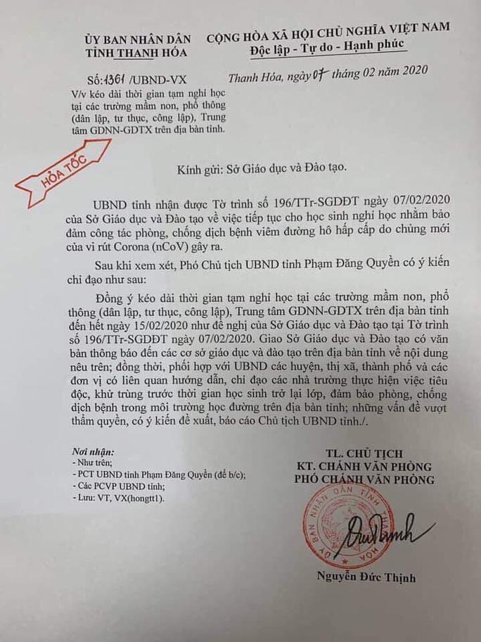 Bình Định, Thanh Hóa: Tiếp tục cho học sinh nghỉ học thêm 1 tuần - Ảnh 1.