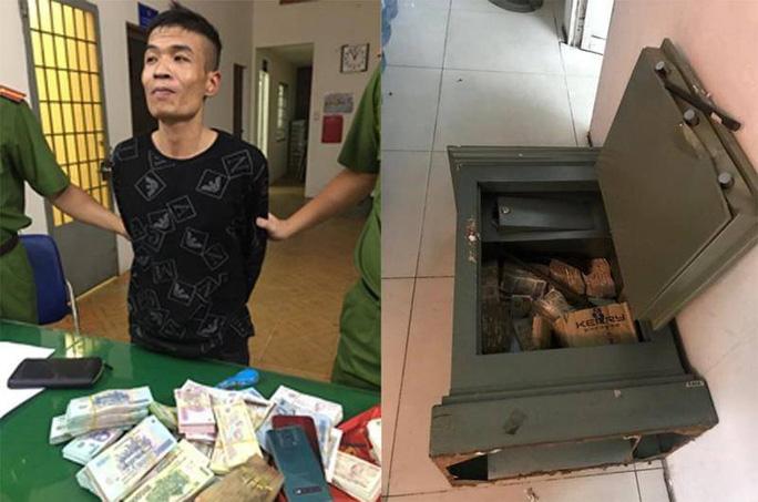 Công an tuần tra bắt gọn tên trộm cạy két sắt cuỗm nửa tỉ đồng trong đêm - Ảnh 1.