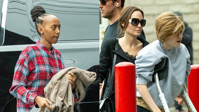 Hai cô con gái của Angelina Jolie phải phẫu thuật - Ảnh 1.