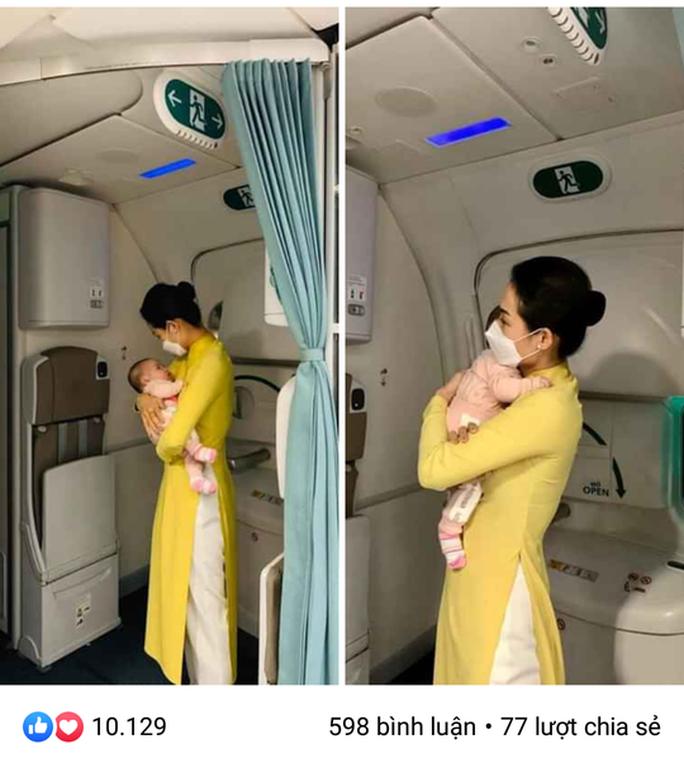 Nữ tiếp viên bế cháu bé 2 tháng tuổi trên máy bay từ Frankfurt về Hà Nội - Ảnh 1.