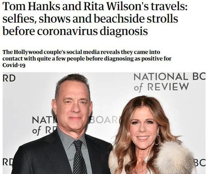 Tài tử Tom Hanks có thể lây covid-19 cho hàng trăm người - Ảnh 1.