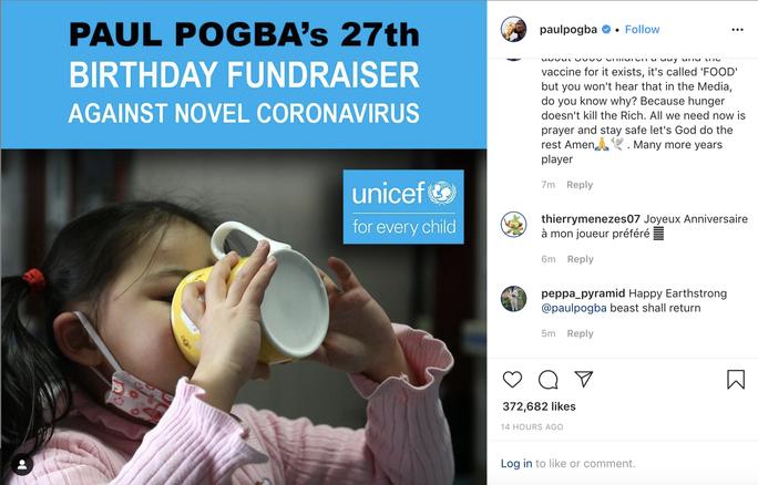 Paul Pogba vận động lạ, gây quỹ chống dịch Covid-19 - Ảnh 1.