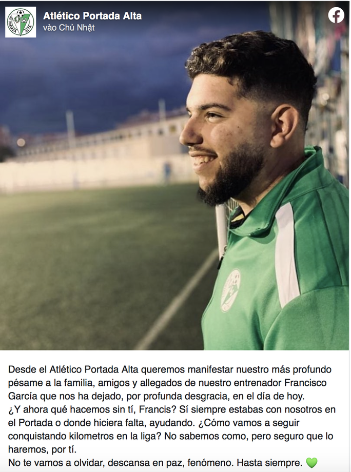 HLV bóng đá đầu tiên tại Tây Ban Nha tử vong vì Covid-19 - Ảnh 1.
