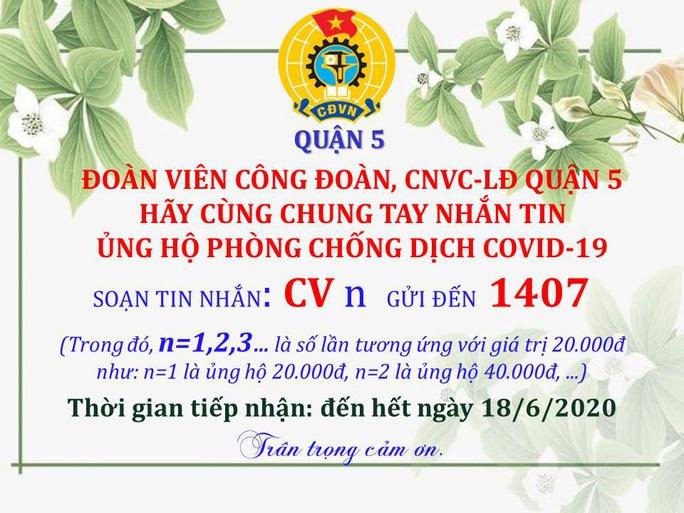 Vận động CNVC-LĐ nhắn tin ủng hộ phòng chống dịch bệnh Covid-19 - Ảnh 1.