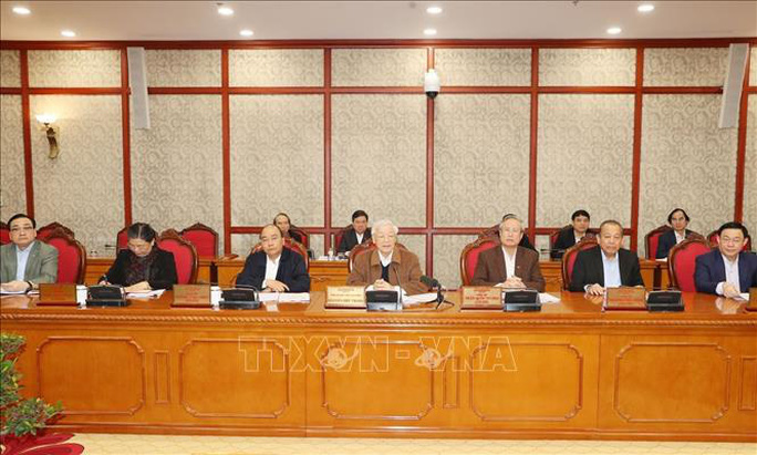 Tổng Bí thư, Chủ tịch nước chủ trì họp Bộ Chính trị về công tác phòng, chống dịch Covid-19 - Ảnh 2.