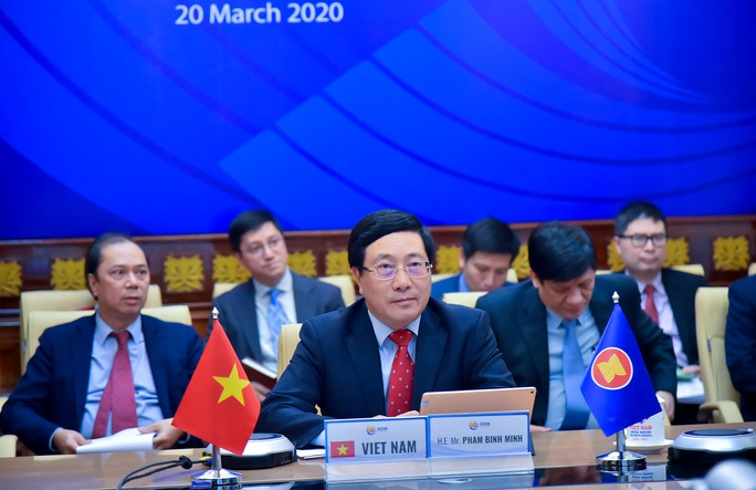 Phó Thủ tướng Phạm Bình Minh dự Hội nghị trực tuyến ASEAN-EU ứng phó Covid-19 - Ảnh 1.