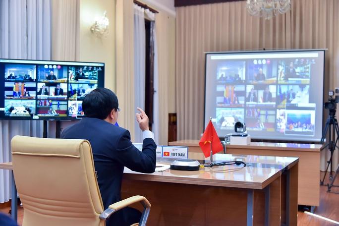 Phó Thủ tướng Phạm Bình Minh dự Hội nghị trực tuyến ASEAN-EU ứng phó Covid-19 - Ảnh 3.