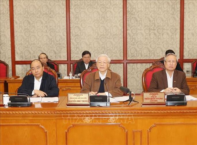 Tổng Bí thư, Chủ tịch nước chủ trì họp Bộ Chính trị về công tác phòng, chống dịch Covid-19 - Ảnh 1.