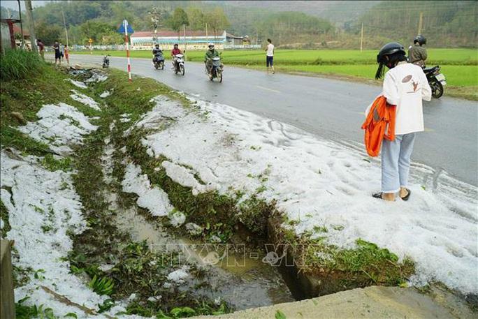 Mưa đá rơi trắng như tuyết tại Điện Biên - Ảnh 8.