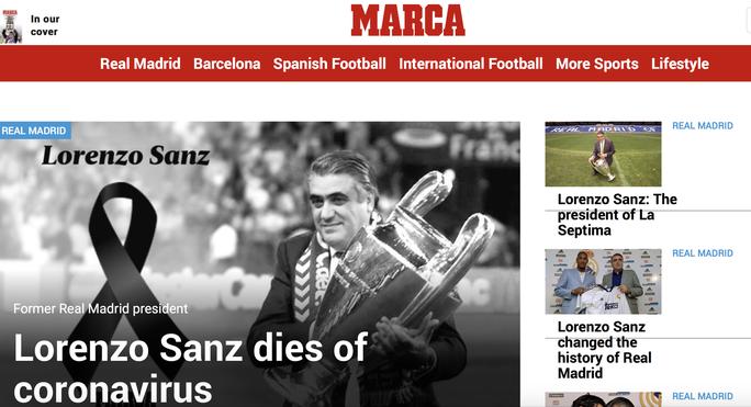 Rúng động: Cựu chủ tịch Real Madrid qua đời vì Covid-19 - Ảnh 1.