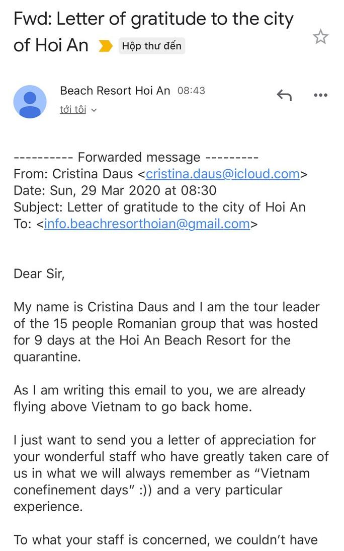 Nữ du khách Romania: Những ngày cách ly tại Việt Nam rất đặc biệt - Ảnh 2.