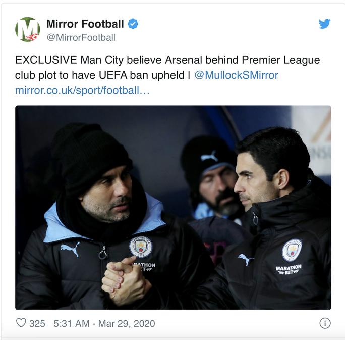 Man City chỉ đích danh kẻ chủ mưu Arsenal vụ tập kích hội đồng - Ảnh 3.
