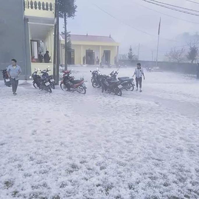 Mưa đá rơi trắng trời, trắng đất ở Lai Châu - Ảnh 5.