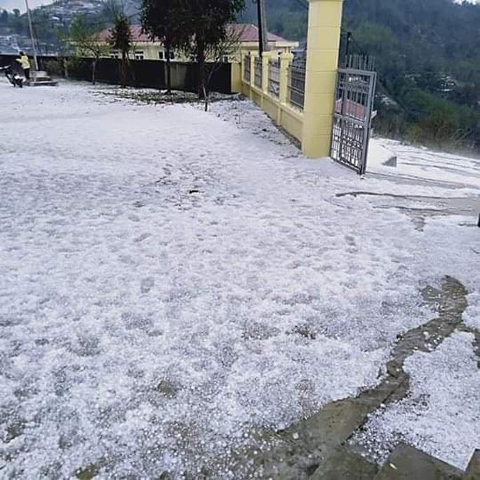 Mưa đá rơi trắng trời, trắng đất ở Lai Châu - Ảnh 6.