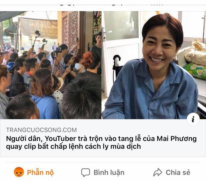 Tang lễ diễn viên Mai Phương: Lại xuất hiện những người vô cảm - Ảnh 2.