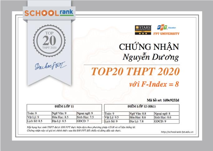 Trường ĐH FPT ra mắt trang xếp hạng học sinh THPT - Ảnh 2.