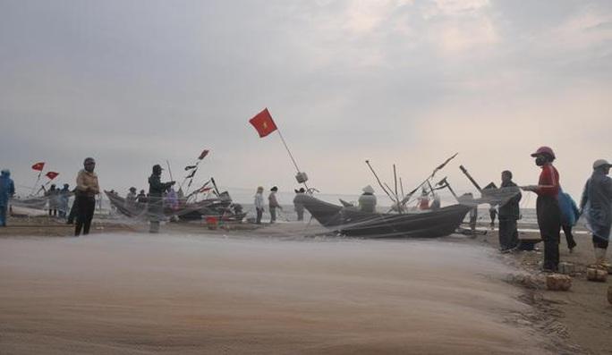 Nhiều người dậy thật sớm rủ nhau ra biển bắt hàng tấn cá trích - Ảnh 1.