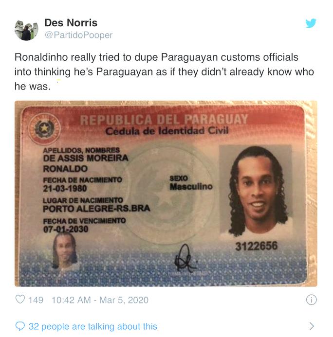 Ronaldinho bị bắt ở Paraguay vì dùng hộ chiếu giả  - Ảnh 3.