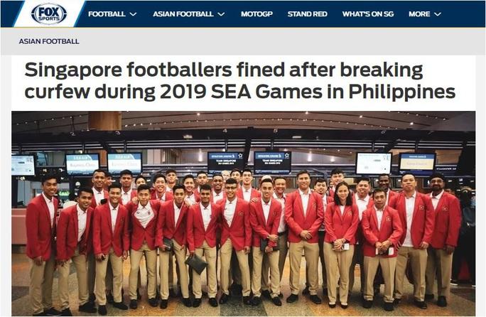 Cầu thủ U22 Singapore bị phạt nặng vì đánh bạc - Ảnh 2.