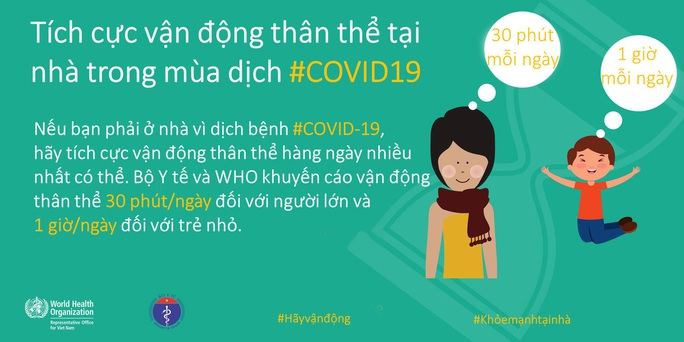 Bộ Y tế khuyến cáo về tăng cường thể lực, giữ sức khoẻ lúc cách ly xã hội chống Covid-19 - Ảnh 2.