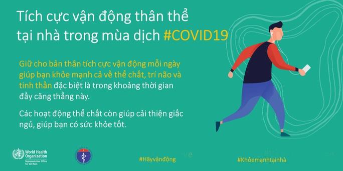 Bộ Y tế khuyến cáo về tăng cường thể lực, giữ sức khoẻ lúc cách ly xã hội chống Covid-19 - Ảnh 6.