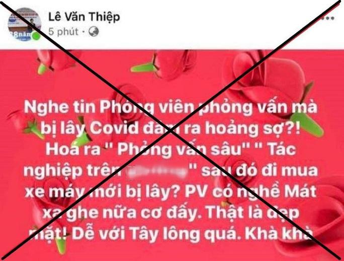 Luật sư Lê Văn Thiệp thừa nhận nội dung đăng tải trên Facebook, hứa sẽ xin lỗi - Ảnh 1.