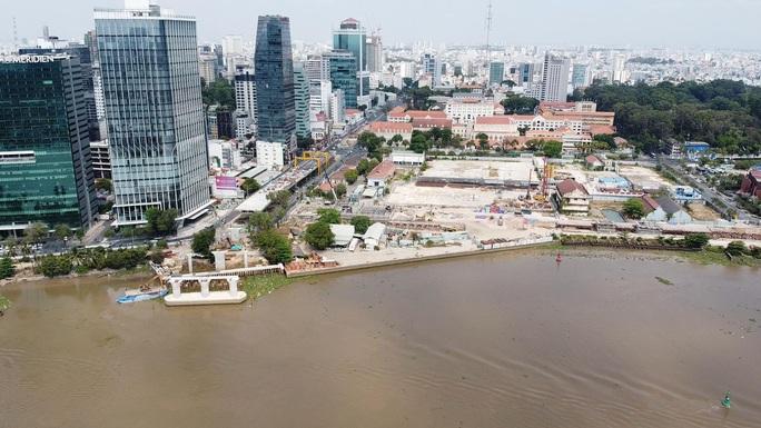 Nhìn từ trên cao, công trình cầu Thủ Thiêm 2 ở TP HCM hiện thế nào? - Ảnh 3.